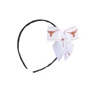 Texas Longhorn White Bow Headband (HA-340-52)