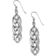 Brighton Interlok Braid French Wire Earrings (JA4910)