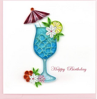 Quilling Card-Birthday Drink