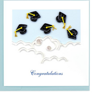 Quilling Card-Flying Graduation Hats