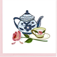Quiling Card-Tea Party