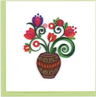 Quilling Card-Terracotta Bouquet