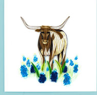 Quilling Card-Texas Longhorn