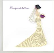 Quilling Card-Bridal Congrats
