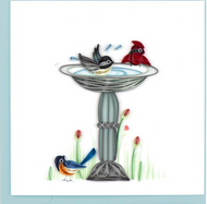 Quilling Card-Bird Bath