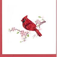 Quilling Card-Cardinal