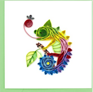 Quilling Card-Chameleon