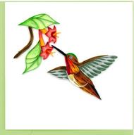 Quilling Card-Rufous Hummingbird