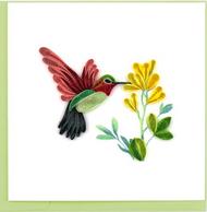 Quilling Card-Hummingbird