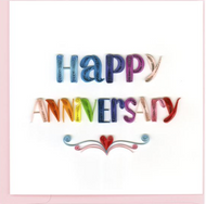 Quilling Card-Happy Anniversary