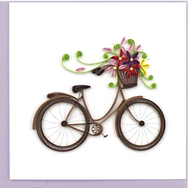Quilling Card-Bicycle with Flowers