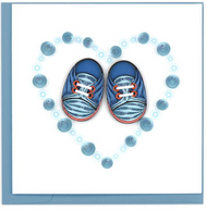 Quilling Card-Blue Baby Booties