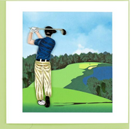 Quilling Card-Golfer