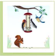 Quilling Card-Bird Feeder