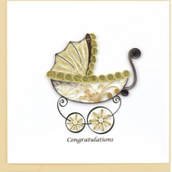 Quilling Card- Baby Carriage