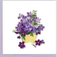 Quilling Card-Violet