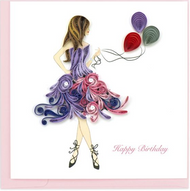 Quilling Card- Birthday Girl