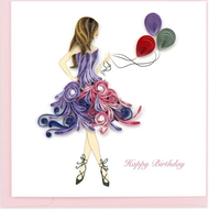 Quilling Card- Birthday Girl
