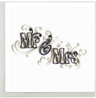 Quilling Card-Mr. & Mrs.