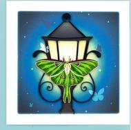 Quilling Card- Luna Moth