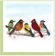 Quilling Card-Song Birds