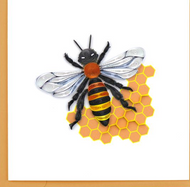 Quilling Card-Honey Bee