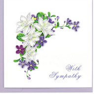 Quilling Card-Flower Sympathy