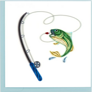Quilling Card-Gone Fishing