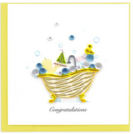 Quilling Card-Baby Tub
