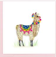 Quilling Card-Llama