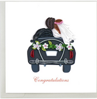 Quilling Card-Just Married