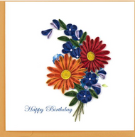 Quilling Card-Birthday Wild Flowers