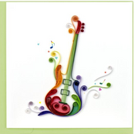 Quilling Card-Electric Guitar