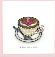 Quilling Card-Love Latte