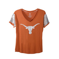 Texas Longhorn Cherry Sequin Sleeve Tee (UT190220025)