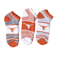 Texas Longhorn No Show Socks (3 Pack) (889536365478)
