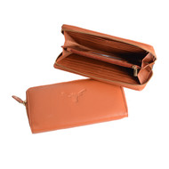 Texas Longhorn Marydale Canyon Zip Wallet (W561)