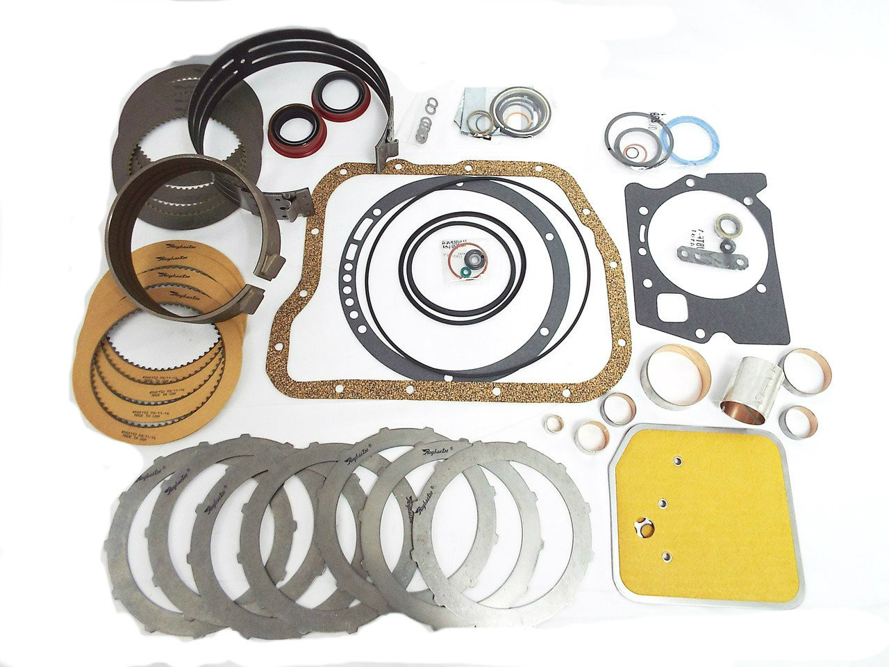A727 TF8 36RH 37RH Master Transmission Rebuild Kit (OE Setup w/ Rear Band +  Full Bushings)