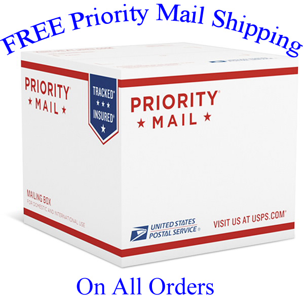 Free USPS Priority Mail Shipping