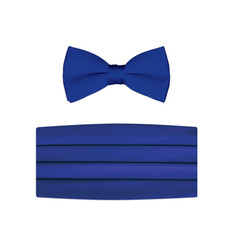 New Royal Blue Bow Tie and Cummerbund Set