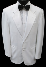 Boys Classic White 2 Button Notch Lapel Dinner Jacket