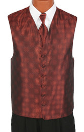 Cinnamon Perry Ellis Fullback Vest and Long Tie