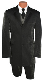 Claiborne Citi Nites Black Sparkle Tuxedo Jacket and Pants