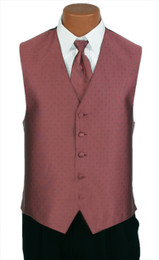 "Ralph Lauren ""Vineyard"" Vest and Long Tie in Berry"