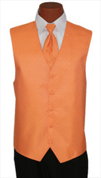 "Ralph Lauren ""Vineyard"" Vest and Long Tie in Tennessee Orange"