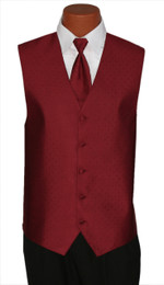 "Ralph Lauren ""Vineyard"" Vest and Long Tie in Ruby"