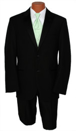 Calvin Klein Black 2 Button Peak Lapel Jacket with Pants