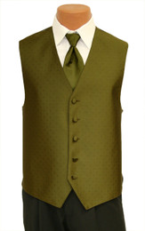 "Ralph Lauren ""Vineyard"" Vest and Long Tie in Fern"