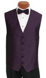 "Ralph Lauren ""Vineyard"" Vest and Tie in Eggplant"