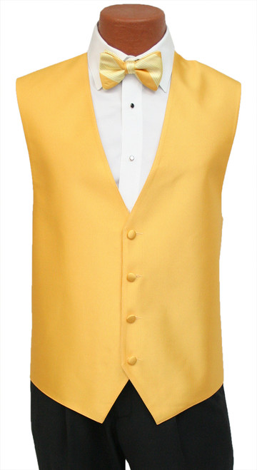 """Red Sleeve """"Reflection"""" Vest and Tie Set in Saffron"""